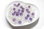 愛の浄化セット 水晶さざれ+アメジスト(ハート皿付)