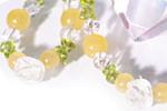 アラゴナイト ブレス&ストラップセット〜ミツバチの花園