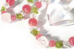 インカローズ ブレス&ストラップセット〜バラ色の花園