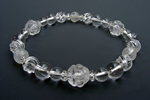 水晶AAA8mm数珠ブレスレット〜永遠の神の水