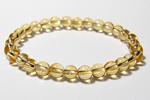 シトリンAAA6mm数珠ブレスレット〜黄金の果実
