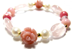 ピンクオパール〜花園のささやき ブレスレット