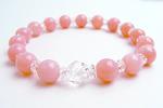 ピンクオパールAAA8mm数珠ブレスレット〜ミルキーピンクは恋の予感