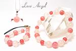 ピンクオパールAAAブレス〜桃色の恋