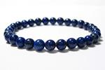 ラピスラズリAA6mm数珠ブレスレット〜瑠璃色のときめき