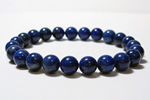 ラピスラズリAAA8mm数珠ブレスレット〜聖なる瑠璃の宝石