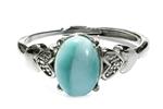 ラリマー・リングAAA『愛と平和』を象徴するカリブ海の美しい宝石