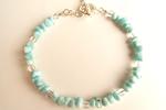 ラリマータンブルチップAAA数珠ブレスレット〜カリブ海の宝石
