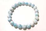 ラリマーAAA数珠ブレスレット〜カリブ海の青空