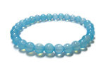 シーブルーカルセドニーAAA6mmブレス〜透き通る青い海