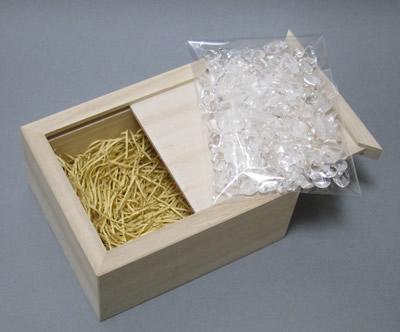 高級桐箱(日本製)+水晶さざれ100g