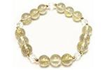 ゴールデンルチルクォーツAAA+18K ブレスレット〜純金の宝石