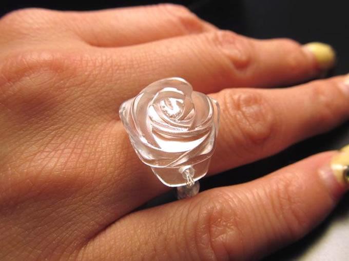 薔薇リング 〜水晶